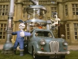 Wallace and Gromit and one of their coolest inventions